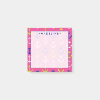 Pink & Blue Nautical Post-it Notes