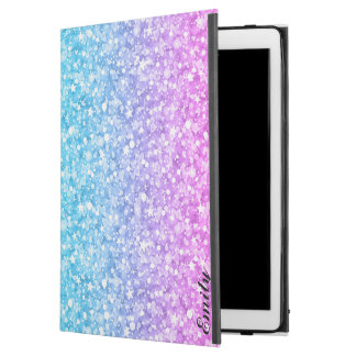 "Pink Blue & Purple Glitter iPad Pro 12.9"" Case"
