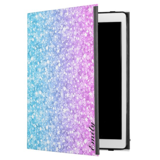 "Pink Blue & Purple Glitter iPad Pro 12.9"" Case"