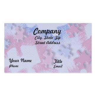 Pink & Blue Puzzle Pieces Business Card Templates