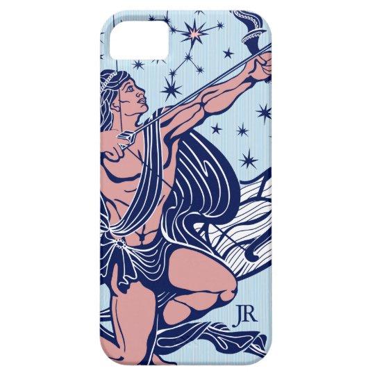 Pink & Blue Sagittarius Astrological Sign GR4 iPhone 5 Cover