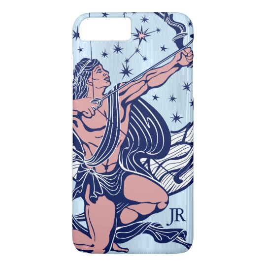Pink & Blue Sagittarius Astrological Sign iPhone 8 Plus/7 Plus Case