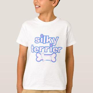 Pink & Blue Silky Terrier Kid's TeeShirt T-Shirt