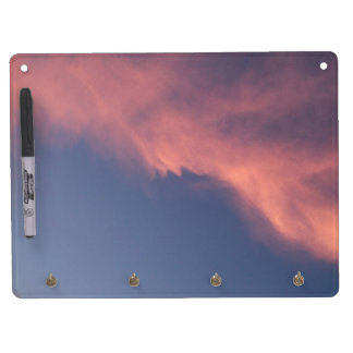 Pink Blue Sky Clouds Dusk Dry Erase Whiteboards