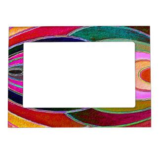 Pink blue Spirals Magnet Photo Frame