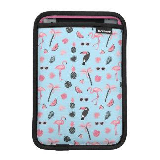 Pink & Blue Summer Tropical Pattern iPad Mini Sleeve