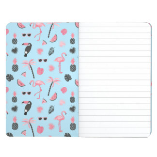 Pink & Blue Summer Tropical Pattern Journal