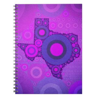 Pink Blue Texas Mosaic Notebooks