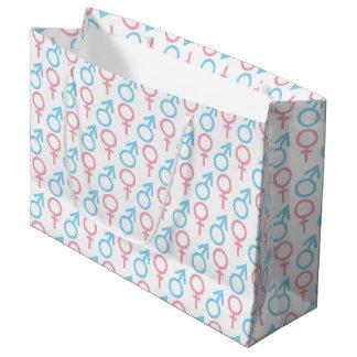 Pink blue unisex pattern gender reveal  party bag