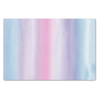 Pink Blue Violet Watercolor Stripes Tissue Paper