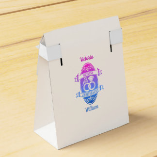 PINK BLUE WEDDING 65 FAVOR BOX