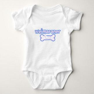 Pink & Blue Weimaraner Baby Creeper