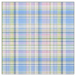 Pink Blue Yellow Wht Preppy Madras Style Plaid Sz6 Fabric