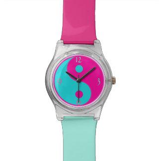 Pink Blue Yin Yang Watch