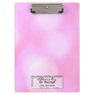 Pink Blurry Lights Glam Chic Modern Personalized Clipboard