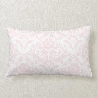 Pink Blush Damask Floral Traditional Lumbar Pillow