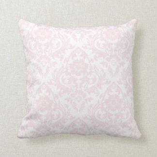 Pink Blush Damask Floral Traditional Pillow
