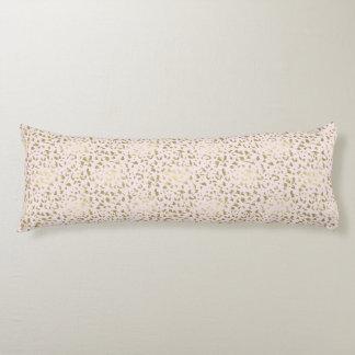 Pink Blush Gold Animal Print Body Pillow