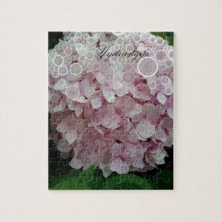 Pink Blush Hydrangea Blossom Jigsaw Puzzle