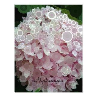 Pink Blush Hydrangea Blossom Letterhead