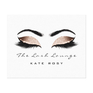 Pink Blush Makeup Artist Beauty Damask Lashes Canvas Print