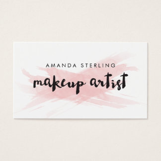 Pink Blush Makeup Artist Business Card