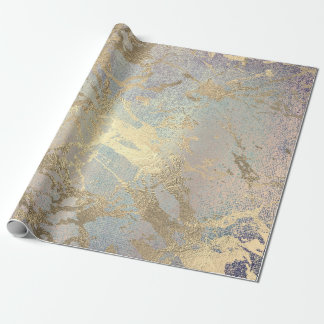 Pink Blush Painting Amethyst Gold Marble Shiny VIP Wrapping Paper