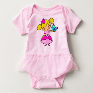 Pink body with ballet tutu carves 12 months for baby bodysuit