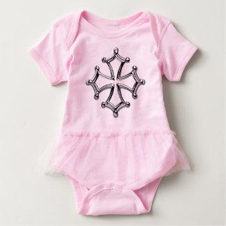 Pink bodystocking tutu occitan Cross Baby Bodysuit