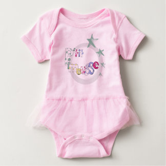 "Pink bodystocking tutu ""P' tit Pimousse"", stars Baby Bodysuit"