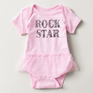"Pink bodystocking Tutu ""Rock'n'roll Star "" Baby Bodysuit"