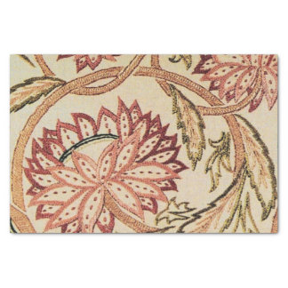 Pink Bohemian Flowers Tissue Paper