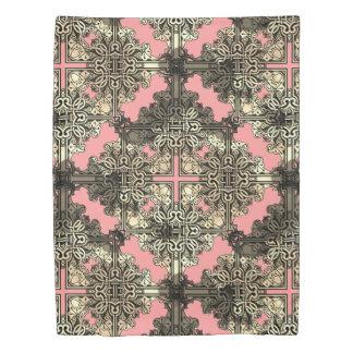 Pink Boho Floral Bohemian Celtic Knot Duvet Cover