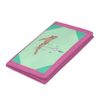 Pink Boho TriFold Wallet