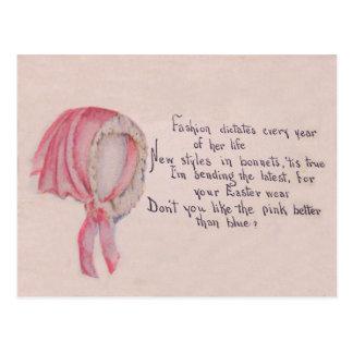 Pink Bonnet Easter Postcards