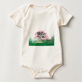 Pink Bonsai Baby Bodysuit