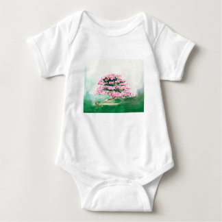 Pink Bonsai Baby Bodysuit