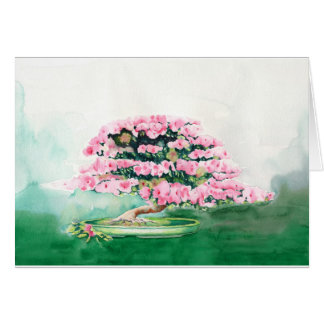 Pink Bonsai Card