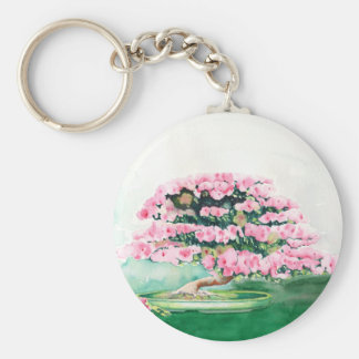 Pink Bonsai Keychain