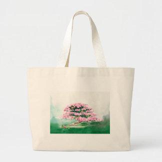 Pink Bonsai Large Tote Bag