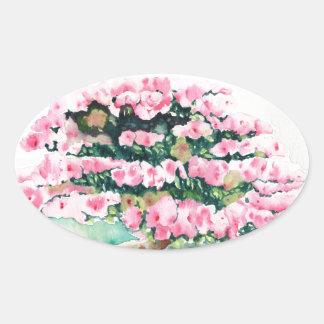Pink Bonsai Oval Sticker