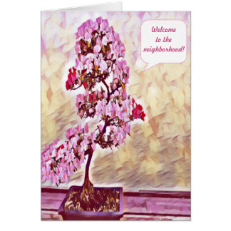 Pink Bonsai Plant 4394 Card