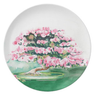 Pink Bonsai Plate