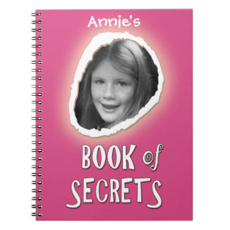 Pink Book of Secrets with Custom Photo and Name
