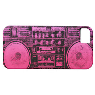 Pink boombox iPhone 5 cases