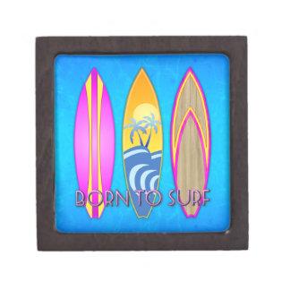 Pink Born To Surf Premium Keepsake Box