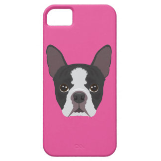 Pink Boston Terrier iPhone 5 Covers