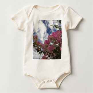 Pink bougainvillea baby bodysuit