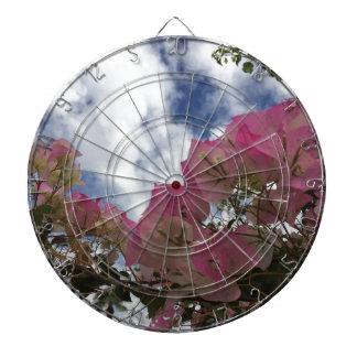 Pink bougainvillea dartboard