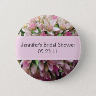Pink Bouquet Bridal Shower Button
